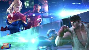 ryu and mega man battle avengers in marvel vs capcom infinite trailer