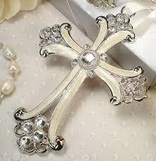 baptism ornament favors large cross ornament classic design