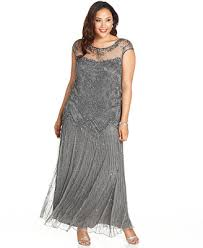 pisarro nights plus size illusion embellished gown macys mother