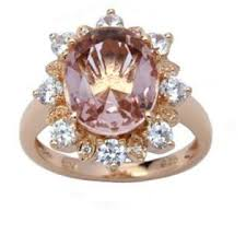 morganite ring gold gold sterling silver oval simulated morganite ring