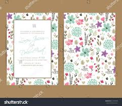 wedding invitation floral background size 5 stock vector 641339539