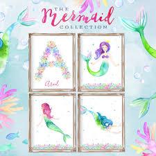 Mermaid Room Decor Mermaid Decor Mermaid Print Mermaid Room Decor Room Decor