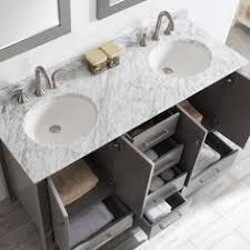 White Bathroom Vanity With Carrera Marble Top by Modern And Simple 30 Inch White Bathroom Vanity With Drawers