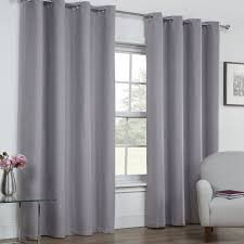Curtains Ring Top Linen Look Textured Blackout Thermal Ring Top Curtains