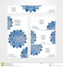 vector banner and business card templates with watercolor abstract