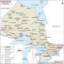 capital of canada map map of ontario ontario map canada