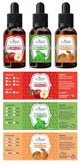 nutrition brochure template e liquid label template