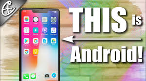 turn android into iphone turn android into iphone x how to tutorial