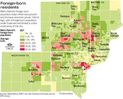 Detroit Metro Map by Immigrants Bypass Detroit For Suburbs