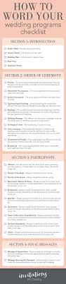 order of wedding program wedding program order tolg jcmanagement co