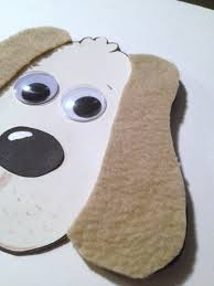 dog with fuzzy ears animal craft kit for kids birthday party favor