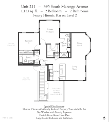 Two Story Condo Floor Plans by Evanston Court Pasadena