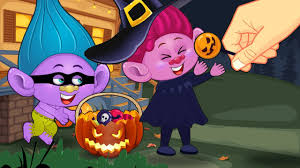 ᴴᴰ trolls babies naughty children in halloween festival funny