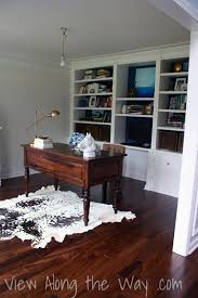 on using a real or faux cowhide rug in a home office