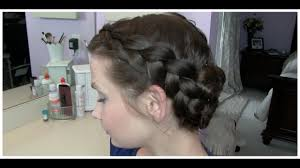 birthing hairstyles easy french braid updo hair tutorial youtube