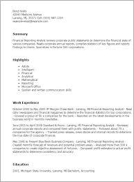 sample financial reporting manager resume accounting manager