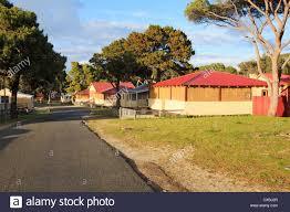 rottnest island bungalow accommodation in thomson bay stock photo