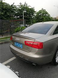 audi a6 spoiler for 17 audi a6 spoiler high quality abs material car rear wing