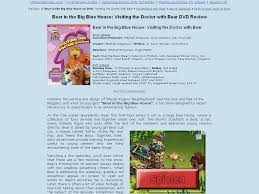 bear in the big blue house visiting the doctor with bear dvd review