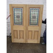 stained glass internal doors dd018 original victorian to edwardian pair of glazed doors the