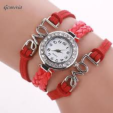 leather wrap bracelet watches images Ladies watch women love hand knitted leather wrap bracelet watch jpg