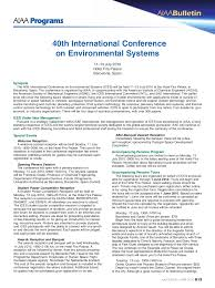 international conference on environmental systems