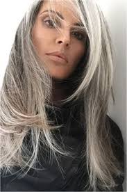 hairstyles with grey streaks is gray hair the new black young and old alike try the trend gray