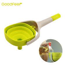 entonnoir de cuisine goodfeer pliable silicone entonnoir passoire pour liquide transfert