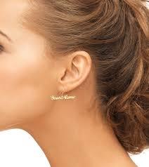 personalized name earrings 18k gold plated name stud earrings jewelry persjewel