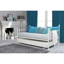 White Metal Daybed With Trundle Size White Metal Daybed With Roll Out Trundle Bed