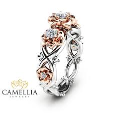 natural rings images Three stone natural diamonds engagement ring nature inspired ring jpg