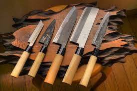kitchen knives japanese lefted 5 kitchen knife set standard