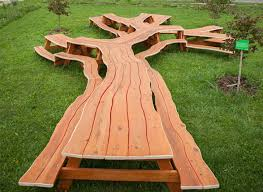 Plans For Building A Wood Picnic Table by Michael Beit Creates Amazing Wooden Tables That Loop Twist And