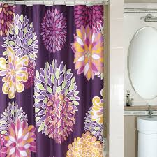 Yellow And Purple Curtains Bright Ideas Purple Floral Shower Curtain Best 25 Curtains On