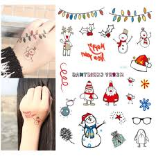 christmas tattoos taty body art temporary tattoo stickers
