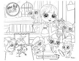 littlest pet shop colotring pages