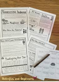 thanksgiving informational text newspaper style bingo