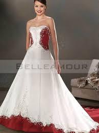 robe de mari e bicolore de mariée blanche bicolore luxe a ligne bustier broderies satin