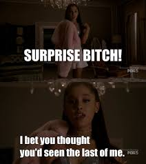 Surprise Bitch Meme - tv time scream queens 2015 s01e07 beware of young girls
