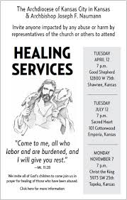 april 12th archbishop naumann invites you to a healing service