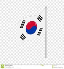 Korea Flag Icon South Korea Flag Isometric Icon Stock Vector Image 87889056