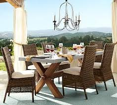 Wicker Patio Dining Sets Outdoor Wicker Dining Sets Pottery Barn