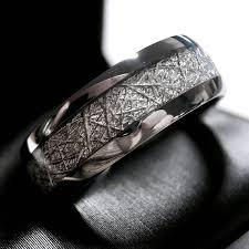 meteorite mens wedding band meteorite ring meteorite wedding band meteorite engagement