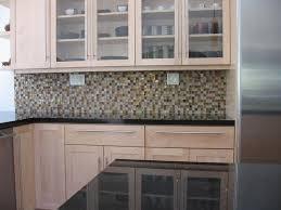 Unique Black Granite Countertops With Tile Backsplash Kitchen Good - Backsplash for black granite