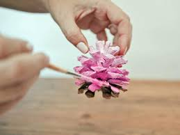Paintings Of Christmas Ornaments How To Make Ombre Painted Pinecone Ornaments Hgtv