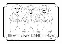 pigs colouring sheets sb7105 sparklebox