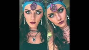 gypsy fortune teller halloween costume gypsy fortune teller halloween makeup tutorial youtube
