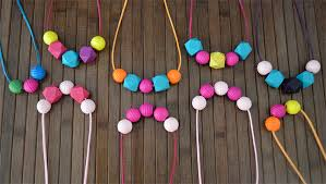 colour beads necklace images Summer brights rainbow geometric wood bead necklace various jpg
