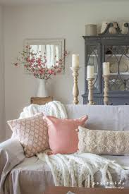 blush and bashful spring accents in the living room nice home