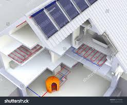 3d Home Design Alternatives Alternative Heated House Solar Panels Heating Stock Illustration